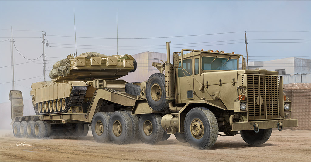 M911 C-HET w/m747 Heavy Equipment Semi-Trailer - Image 1