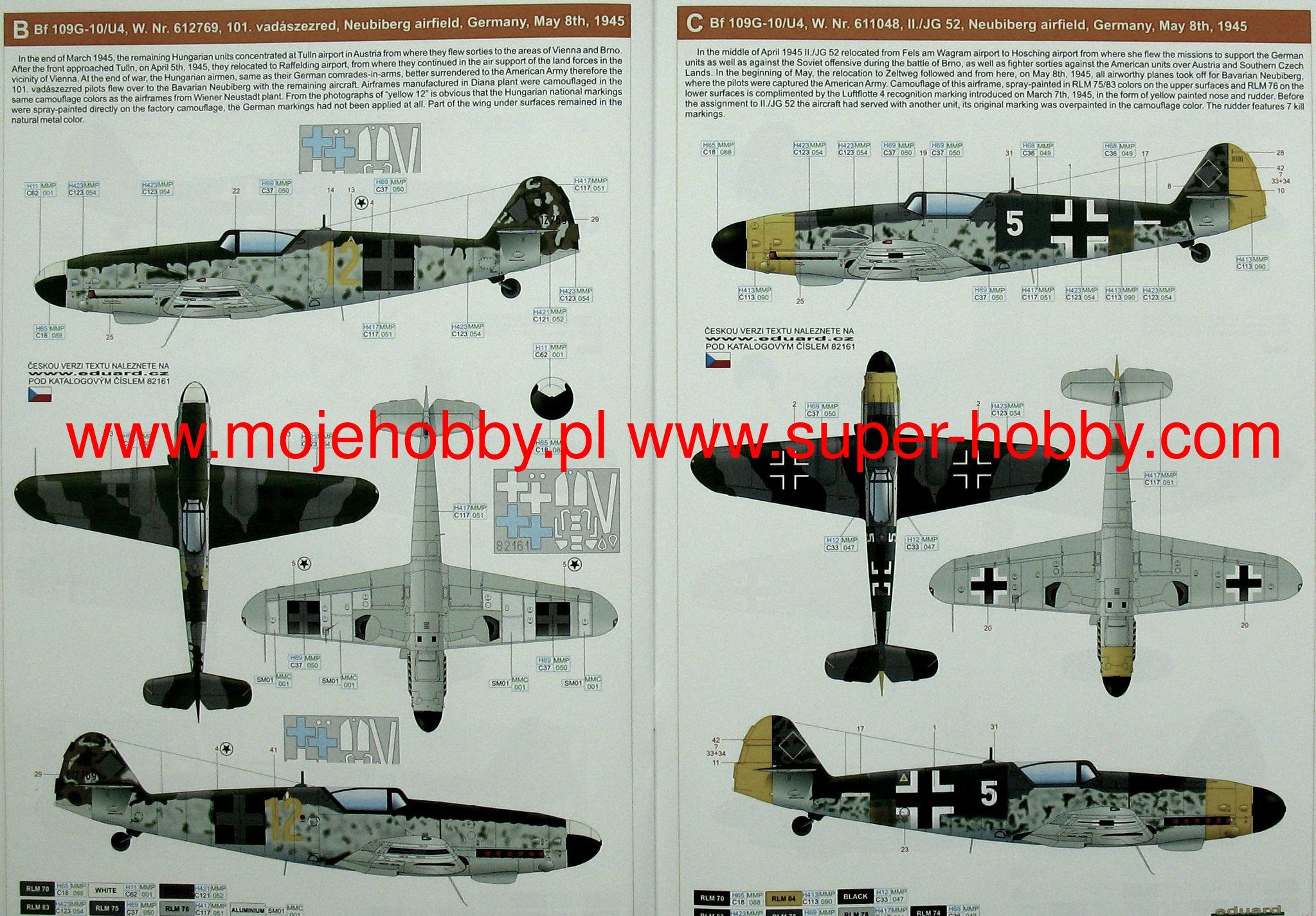 Eduard Accessories Ss210-1:72 Bf-109G-6 Neu Ätzsatz