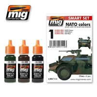 A.MIG 7114 NATO colors - Acrylic color for brush and airbrush Set