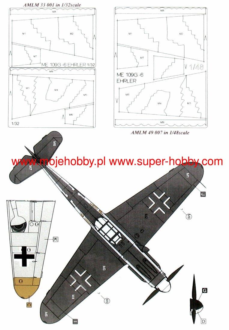 Pmask Pc72002 Bf109F//G Kamuflaż
