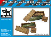 WW II Luftwaffe bombs SC 250 + crate boxes