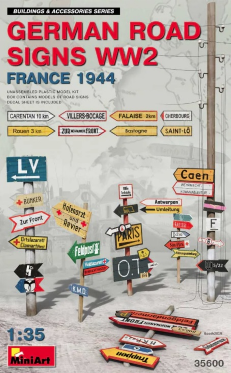 German Road Signs WW2 - France 1944 - Image 1