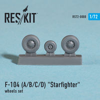 "Lockheed  F-104 (A/B/C/D) ""Starfighter"" wheels set - Image 1"