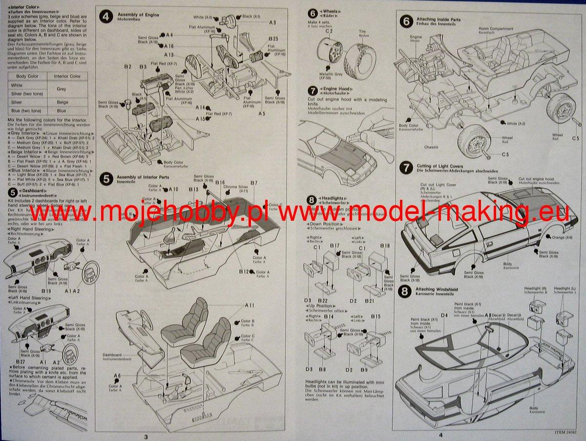TAMIYA B Parts 24042 1//24 Nissan Fairlady Z 300ZX 2 Seater
