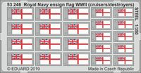 Royal Navy ensign flag WWII (cruisers/destroyers) STEEL