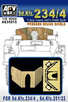 PRESSED BBASS SHIELD FOR Sd.Kfz.234/4, Sd.Kfz.251/22