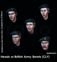 Heads w/British Army Berets (County London of Yeomanry badge) - Image 1