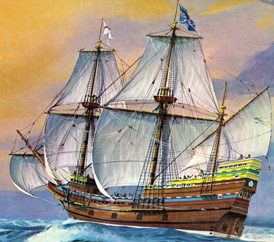 Корабль мэйфлауэр как выглядит 20 евро цент