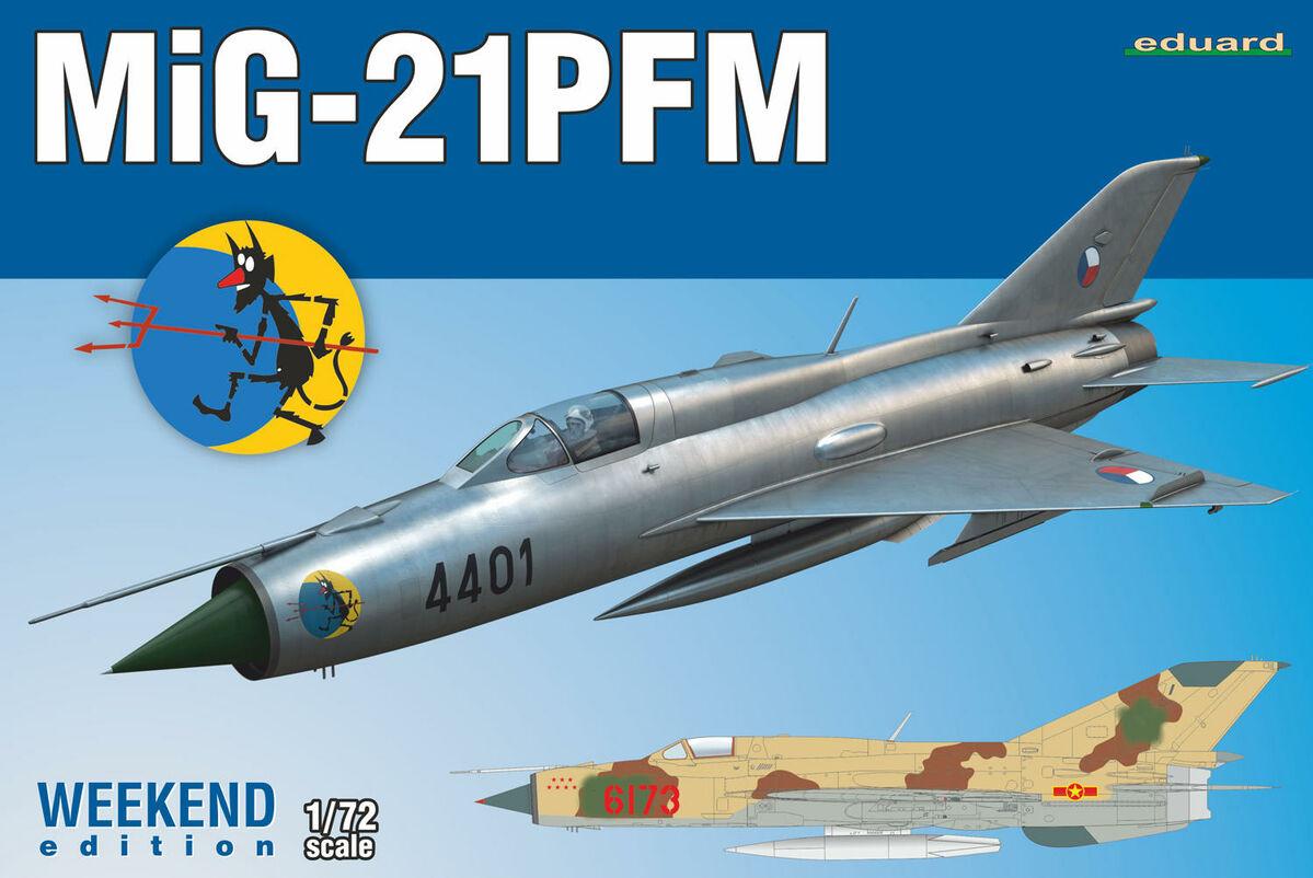 Eduard MiG-21PFM WEEKEND edition Bausatz Model Kit 1:72 Art 7454