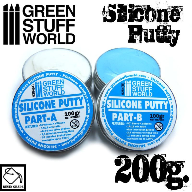 Blue Silicone Putty 200gr - Image 1