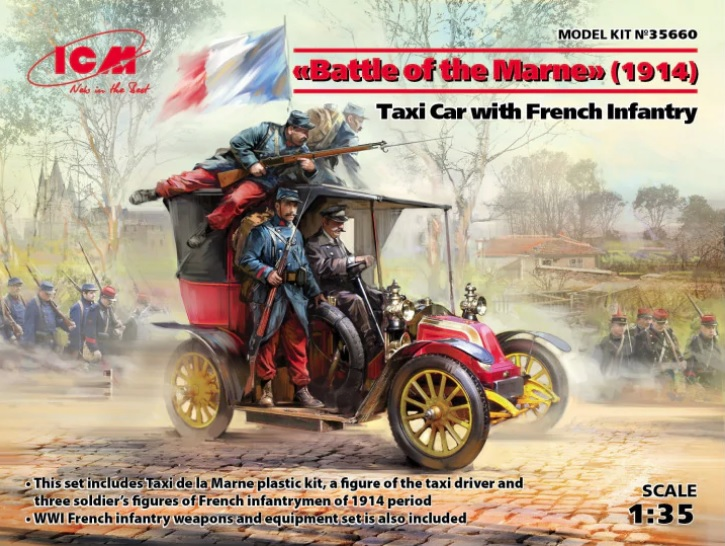 Taxi Car w/French Infantry Battle of the Marne 1914 - Image 1