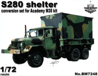 S-280 shelter for Academy M35 kit