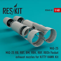 MiG-25 RB, RBT, BM, RBK, RBF, RBSh Foxbat exhaust nozzles for KITTY HAWK Kit - Image 1