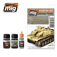 A.MIG 7412 German Tanks - Enamel & Acrylic Set