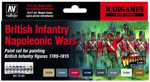 British Infantry Napoleonic Wars Paint Set (6)