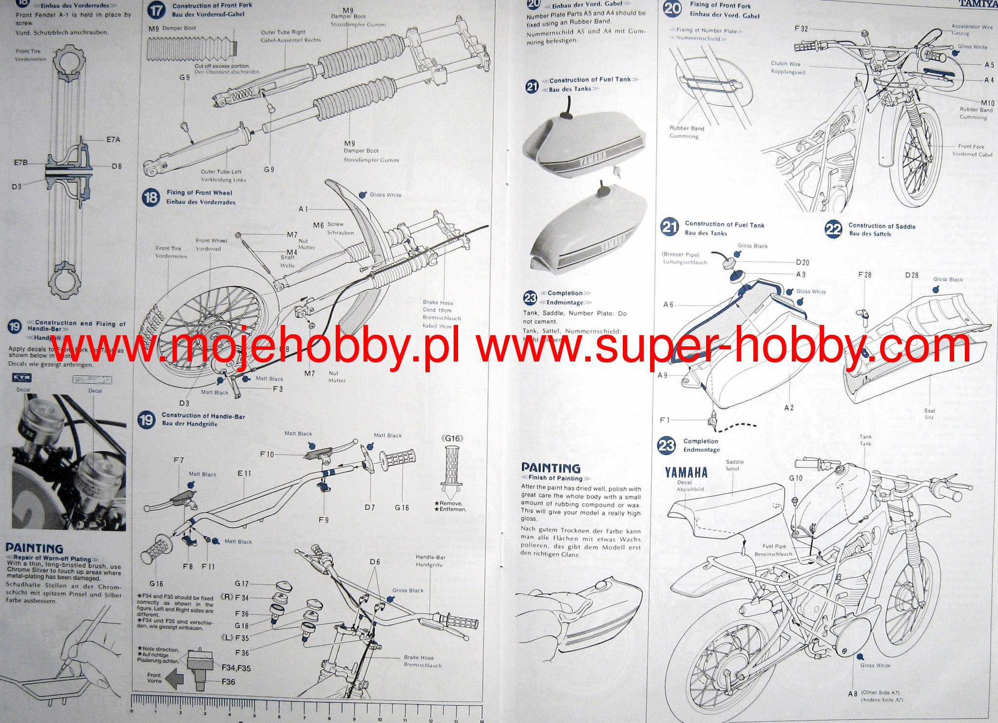 Yamaha Motocrosser Yz250 Tamiya 16036 Wiring Diagram 2 Tam16036 5