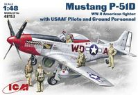 Mustang P-51D with USAAF Pilots and Ground Personnel - Image 1