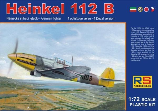 German fighter Heinkel He-112B (Hungarian Air Force)