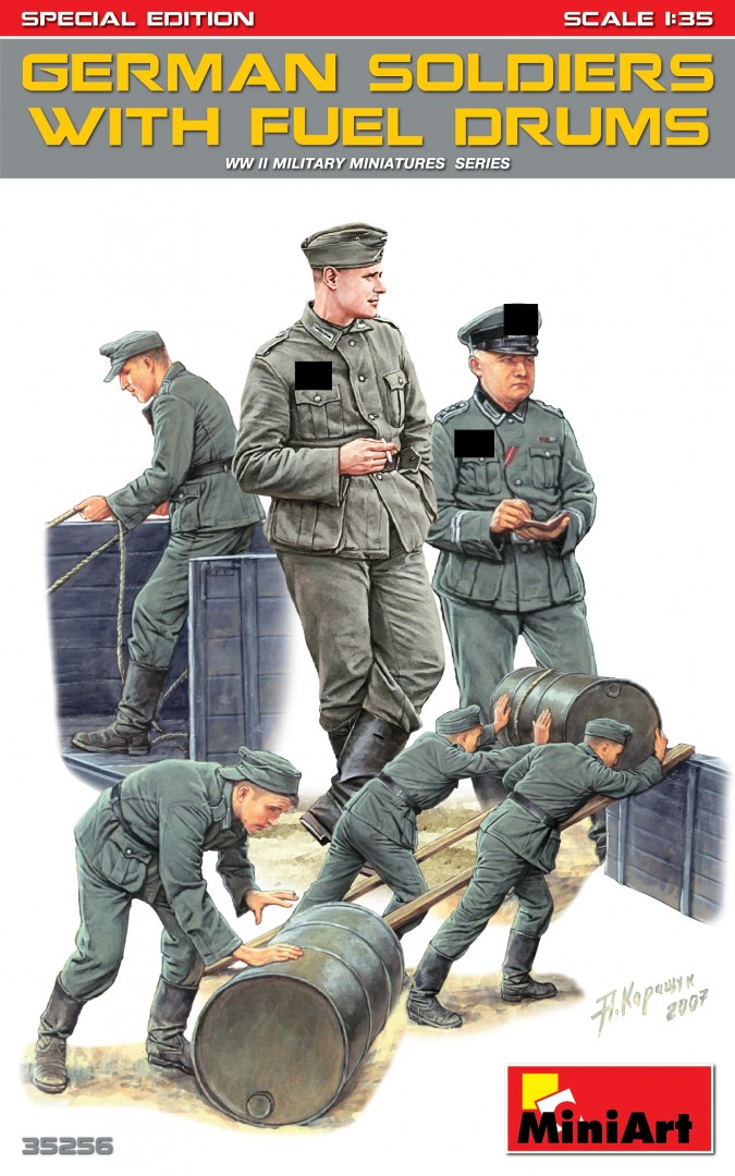 german soldiers with fuel drums miniart 35256