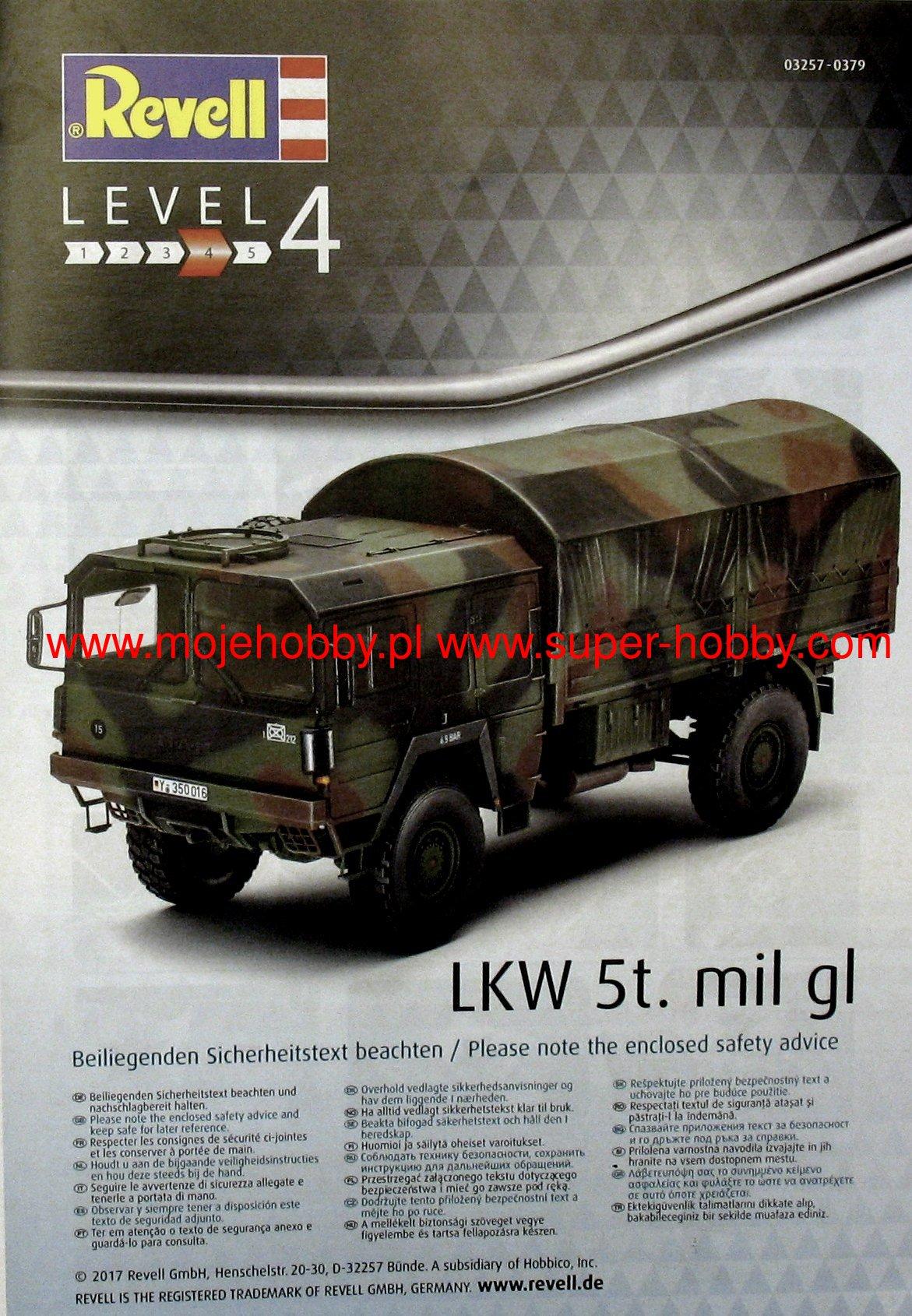 Mil Gl im Maßstab 1:35 Modellbausatz LKW 5T Revell 03257 4x4 Truck