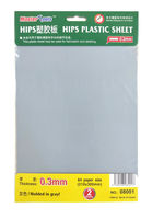 HIPS Plastic Sheet 0.3 mm A4 - 2 Sheets