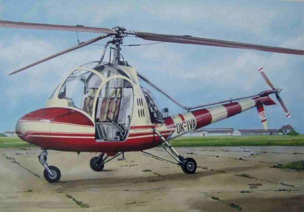 HC-2 Heli Baby helicopter AZ-Model CZ01