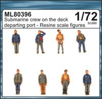 Submarine crew on the deck departing port - Image 1