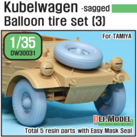 German VW Desert type Wheel set 3 (for Tamiya 1/35) - Image 1