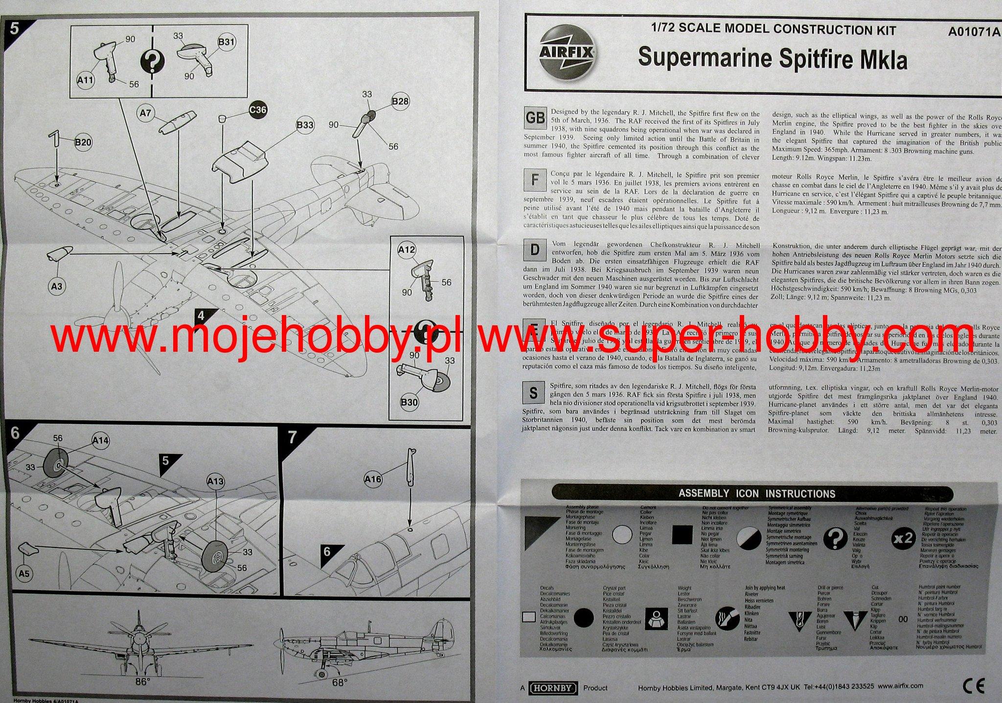 Supermarine Spitfire Mk1a Airfix 01071a Gt6 Mk1 Wiring Diagram 2 Afx01071a 1