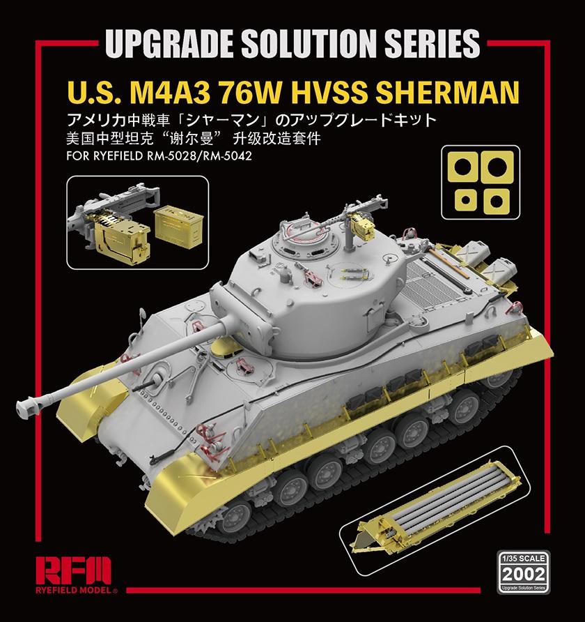 Rye Field 1//35 M4A3 76W HVSS Sherman #5042 /& Upgrade Solution#2002
