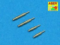 Set of 4 German barrels tips for 7,92 mm MG 17 aircraft machine guns