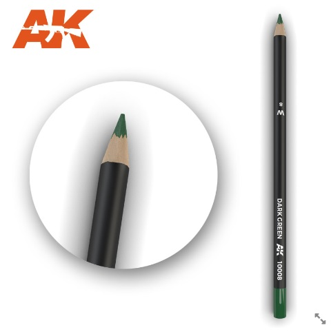 Watercolor Pencil Dark Green - Image 1