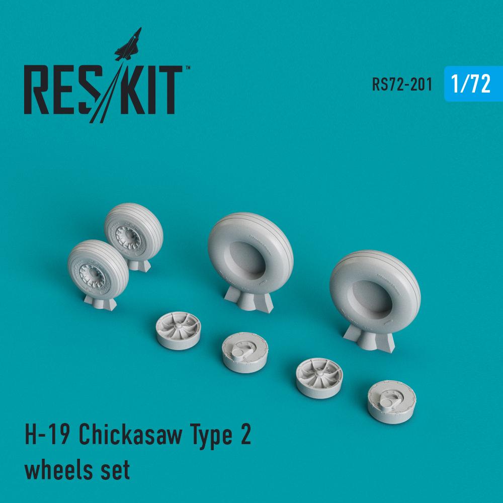 ResKit 72-0201 H-19 Chickasaw Type 2 wheels set resin wheels 1//72