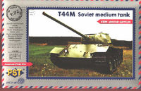 Soviet T-44M medium tank with Zebrano etching parts(very limited edition)