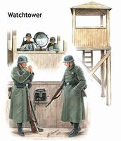 Watch Tower, 4 Figures, Watch tower with search light and phone - Image 1