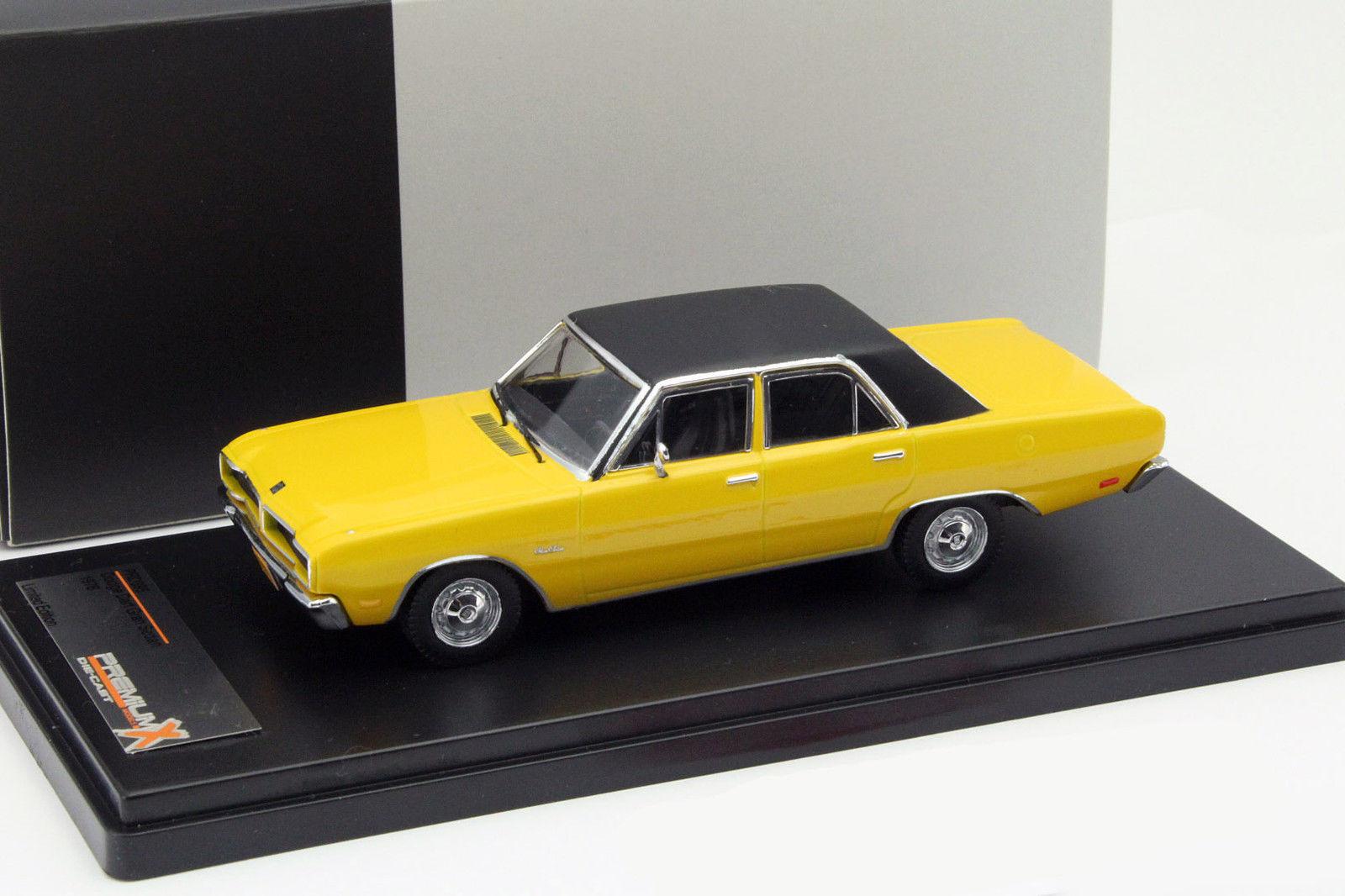 1:43 PremiumX Dodge Dart Gran Sedan 1976 yellow//black