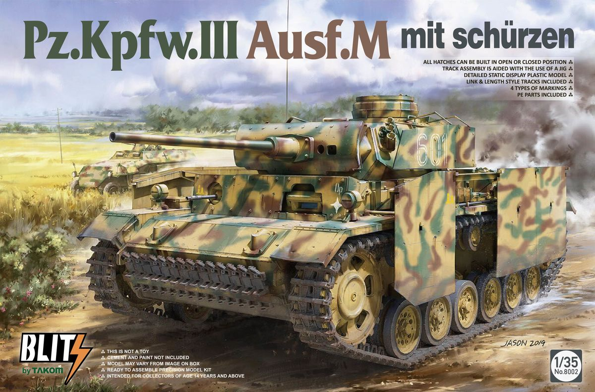 Kpffw III Fusf M//N NEW Model Kit Fujimi German Pz