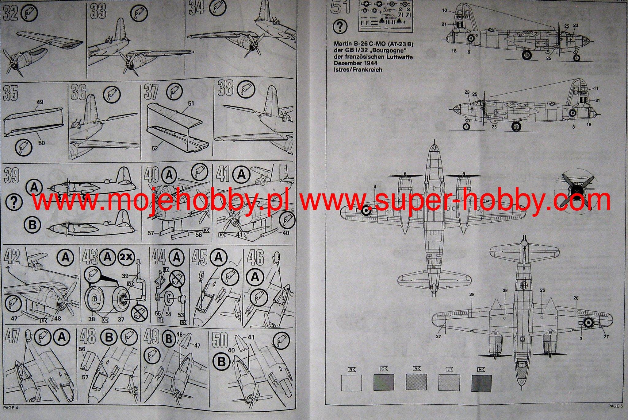 Martin B 26 Marauder Revell 04325 Engine Diagram 2 Rev04325 3