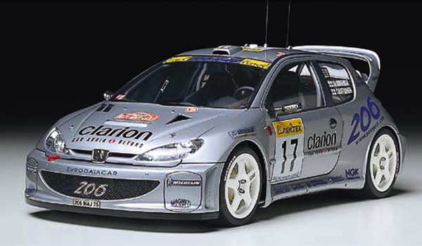 peugeot 206 wrc 2000 tamiya 24226. Black Bedroom Furniture Sets. Home Design Ideas