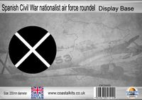 Circular Spanish Civil War nationalist air force roundel 200mm