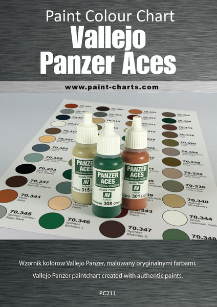 Color Charts Paints Model Shop Modelling