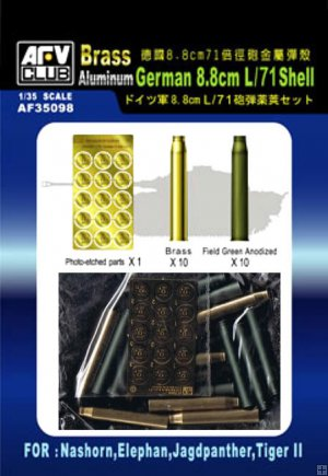 German 88mm L/71 Shell brass and aluminium