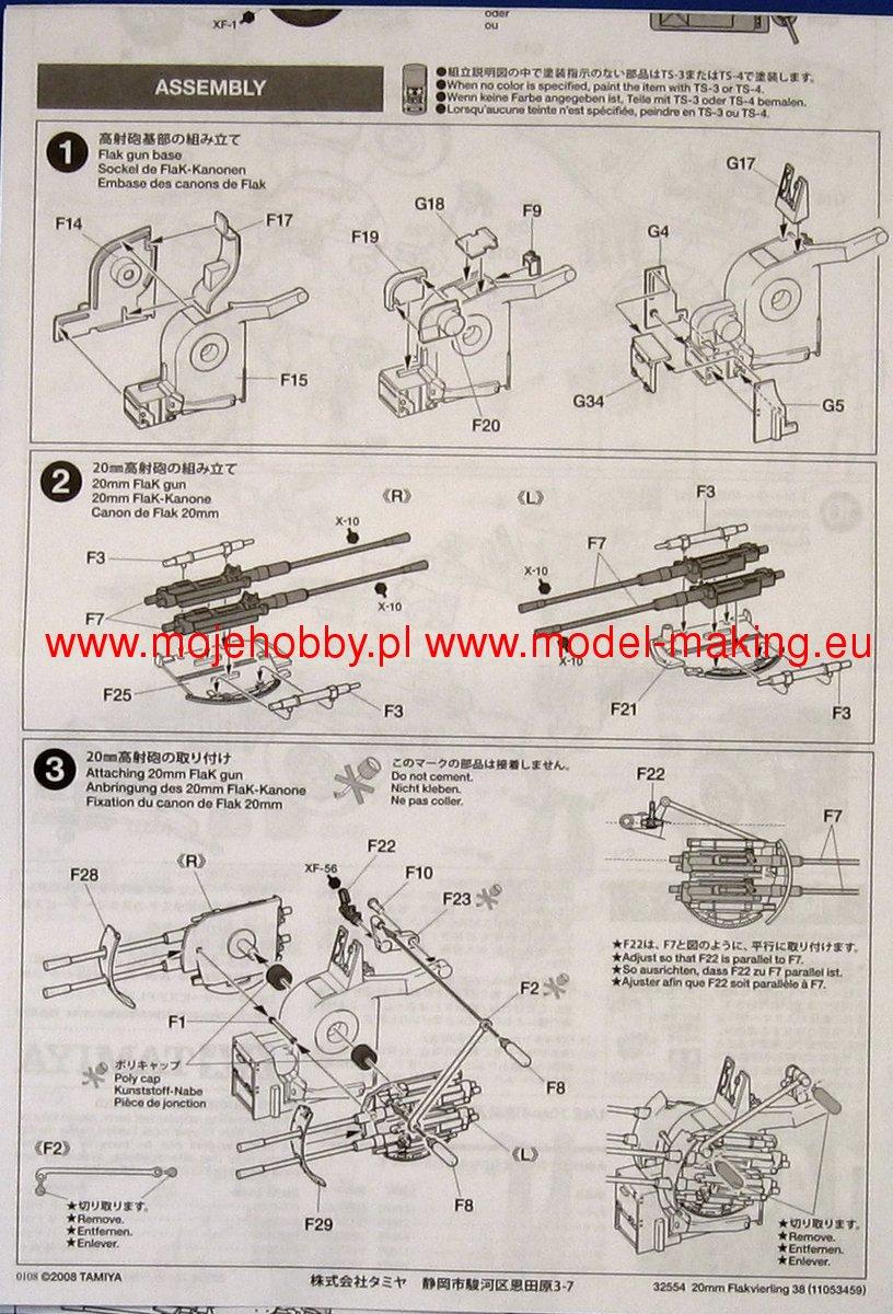 MIB inkl Tamiya 32554 German 20mm Flakvierling 38 1//48 OVP Versand in D