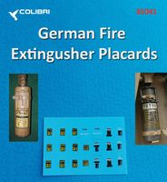 German Fire Extingusher Placards