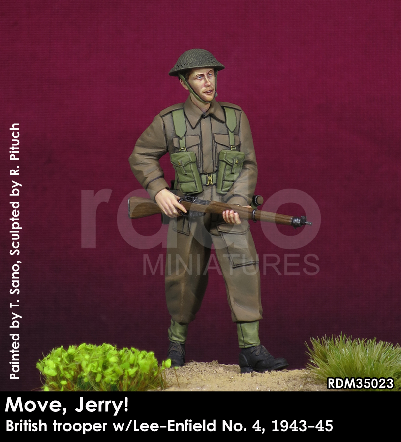 Move, Jerry! British trooper w/Lee-Enfield No. 4, 1943-45 - Image 1