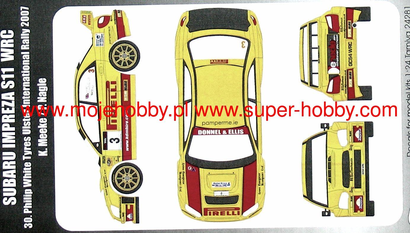 #3 RALLYE ULSTER 2007 D43149 MEEKE DECALS 1//43 SUBARU IMPREZA WRC
