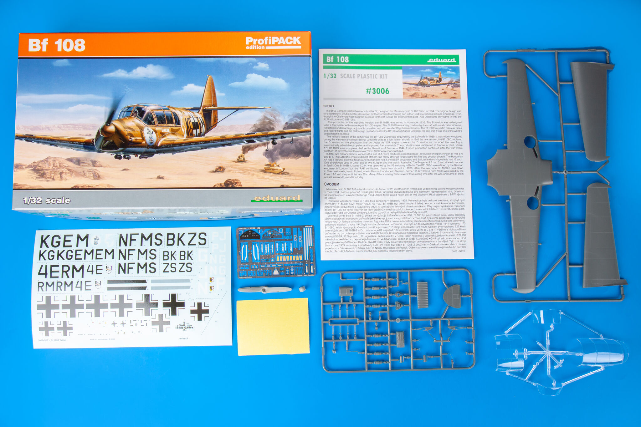 Neu Eduard Accessories 632150-1:32 Bf 108 wheels for Eduard