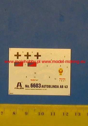 ITALERI 6603 1//48 Autoblinda AB 43