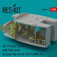 UH-1D Huey Cockpit with Pilot seats & Cargo Bay Set for KITTY HAWK Kit - Image 1