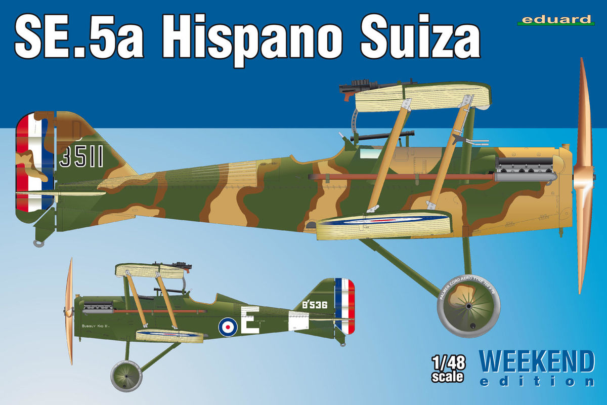 Roden Models 1//48 RAF S.E.5a with Hispano Suiza Engine British WWI Fighter